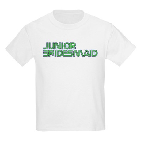 Streamline Green Jr Bridesmai Kids Light T-Shirt