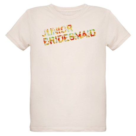 Funky Bubbles Jr Bridesmaid Organic Kids T-Shirt