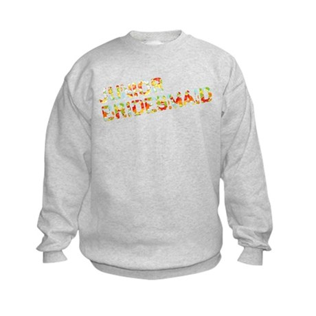 Funky Bubbles Jr Bridesmaid Kids Sweatshirt