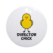 Director Chick Ornament (Round)