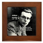 History Aldous Huxley Framed Tile