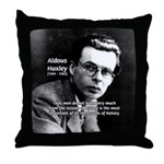 History Aldous Huxley Throw Pillow