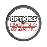 """Options...Cool Kids"" Wall Clock"