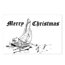 Sailor Santa Postcards (Package of 8)