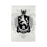 Black Family Crest Rectangle Magnet