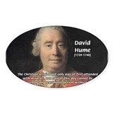 Christianity and David Hume Oval Decal
