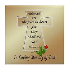In Loving Memory of Dad Tile Coaster