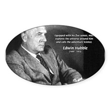 Exploration: Edwin Hubble Oval Decal