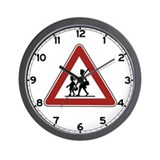 Caution Children, Rwanda Wall Clock