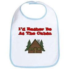 I'd Rather Be At The Cabin Bib