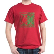 Red & Green Celtic Knotwork T-Shirt