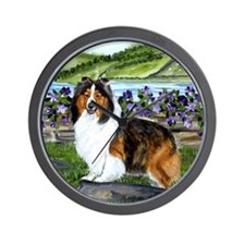 Unique Shetland sheepdog Wall Clock