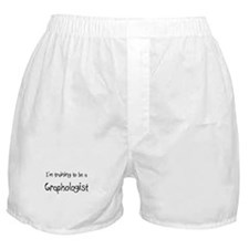 I'm training to be a Graphologist Boxer Shorts
