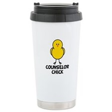 Counselor Chick Ceramic Travel Mug