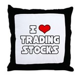 """I Love Trading Stocks"" Throw Pillow"
