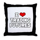 """I Love Trading Futures"" Throw Pillow"