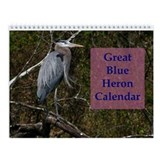 Great Blue Heron Wall Calendar