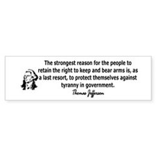 """Thomas Jefferson"" Bumper Sticker"