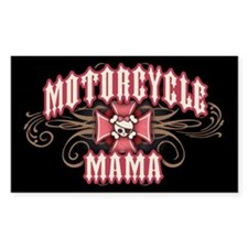 Motorcycle Mama 1 Rectangle Decal