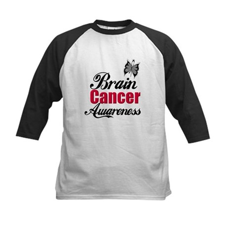 Brain Cancer Awareness Kids Baseball Jersey
