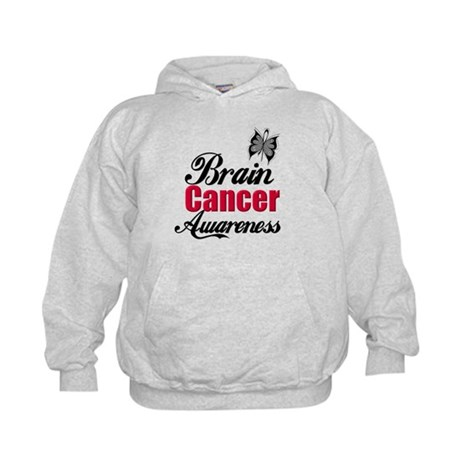 Brain Cancer Awareness Kids Hoodie