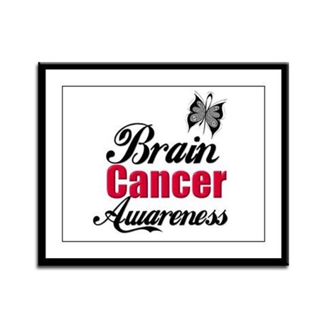 Brain Cancer Awareness Framed Panel Print
