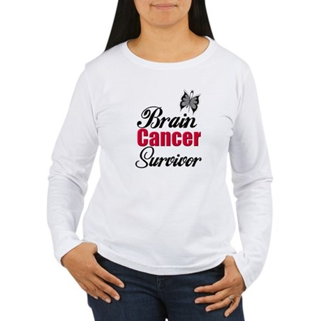 Brain Cancer Survivor Women's Long Sleeve T-Shirt