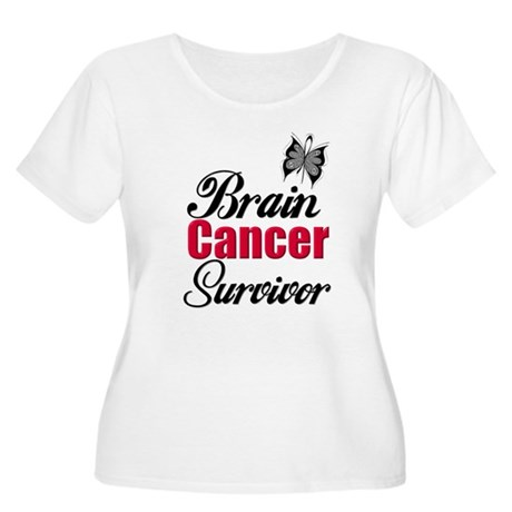 Brain Cancer Survivor Women's Plus Size Scoop Neck