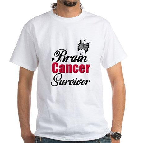 Brain Cancer Survivor White T-Shirt