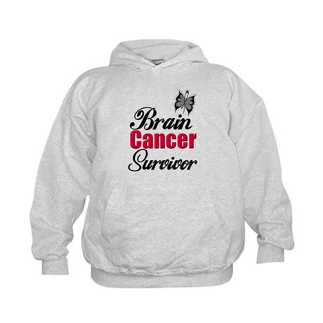 Brain Cancer Survivor Kids Hoodie