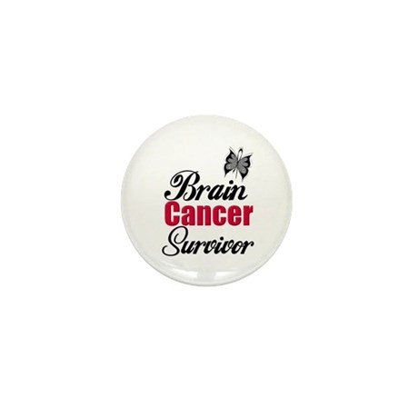 Brain Cancer Survivor Mini Button (100 pack)