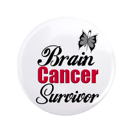 "Brain Cancer Survivor 3.5"" Button"
