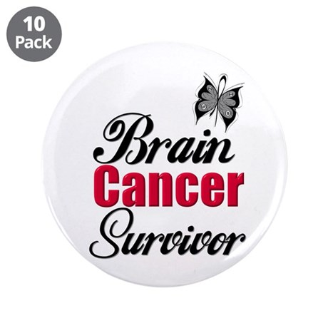 "Brain Cancer Survivor 3.5"" Button (10 pack)"