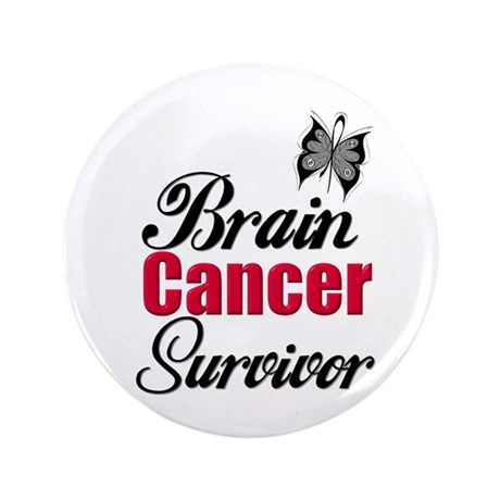 "Brain Cancer Survivor 3.5"" Button (100 pack)"