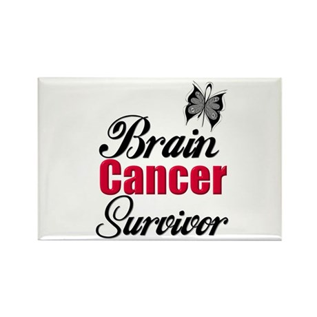 Brain Cancer Survivor Rectangle Magnet