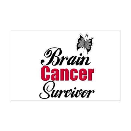 Brain Cancer Survivor Mini Poster Print