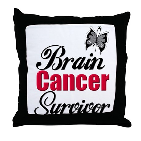 Brain Cancer Survivor Throw Pillow
