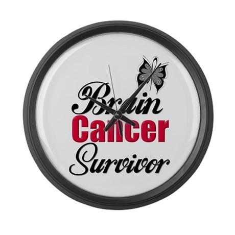 Brain Cancer Survivor Large Wall Clock