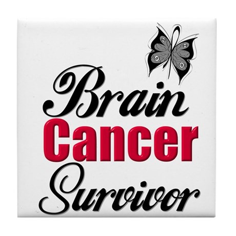 Brain Cancer Survivor Tile Coaster