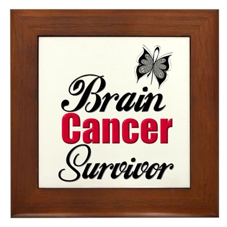 Brain Cancer Survivor Framed Tile