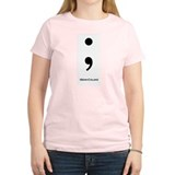 Semi-Colon Women's Pink T-Shirt