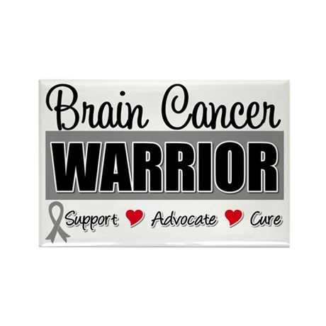 Brain Cancer Warrior Rectangle Magnet