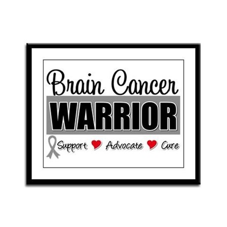Brain Cancer Warrior Framed Panel Print