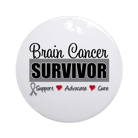 Brain Cancer Survivor Ornament (Round)