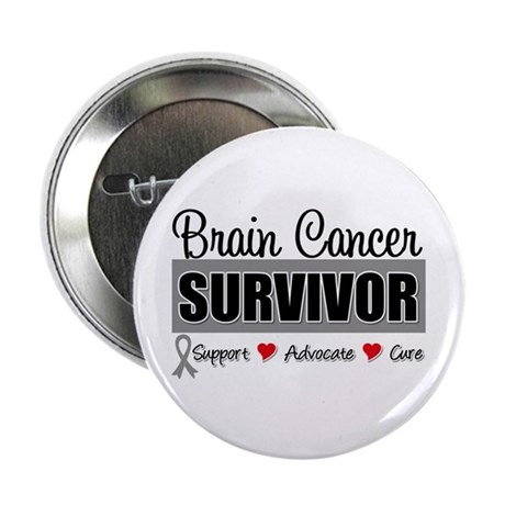 "Brain Cancer Survivor 2.25"" Button (10 pack)"