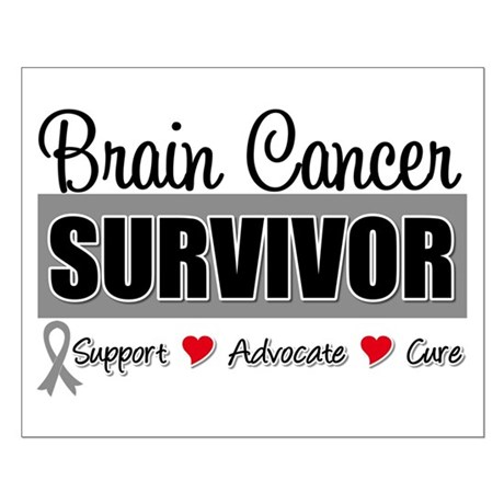 Brain Cancer Survivor Small Poster