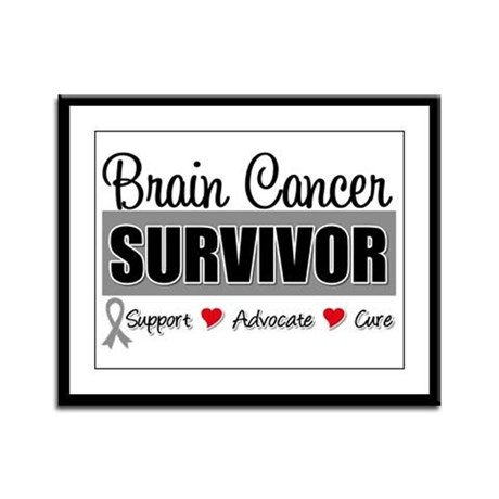 Brain Cancer Survivor Framed Panel Print