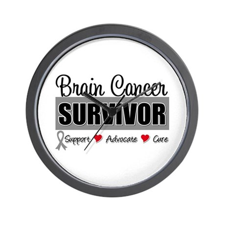 Brain Cancer Survivor Wall Clock