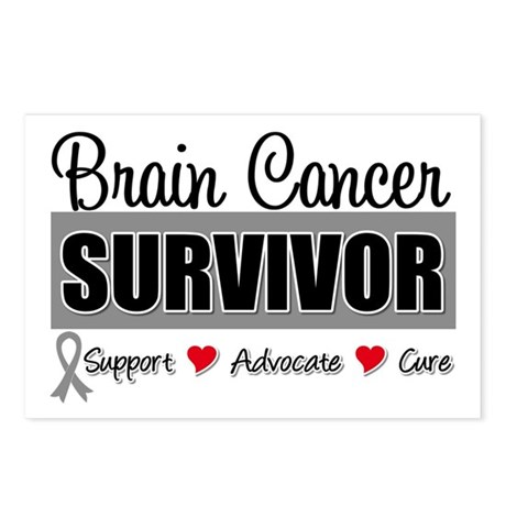 Brain Cancer Survivor Postcards (Package of 8)
