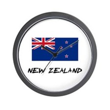New Zealand Flag Wall Clock